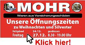 Mohr, Waren aus Versicherungsschäden
